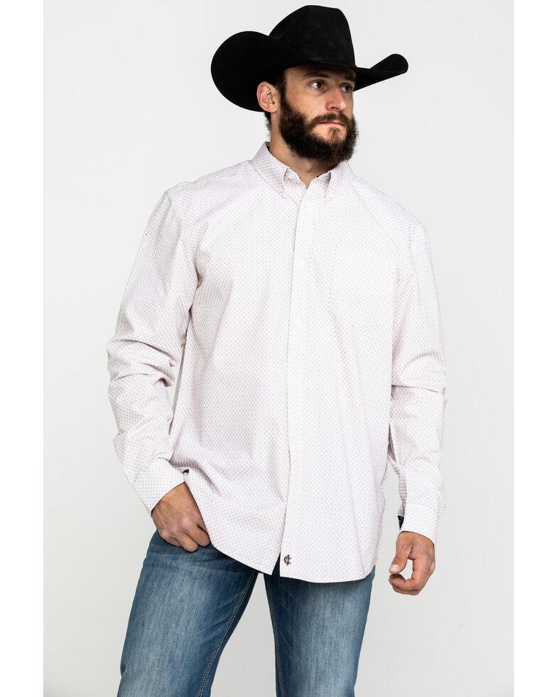Cody James Core Men's Dolores Check Plaid Long Sleeve Western Shirt - Big , White, hi-res