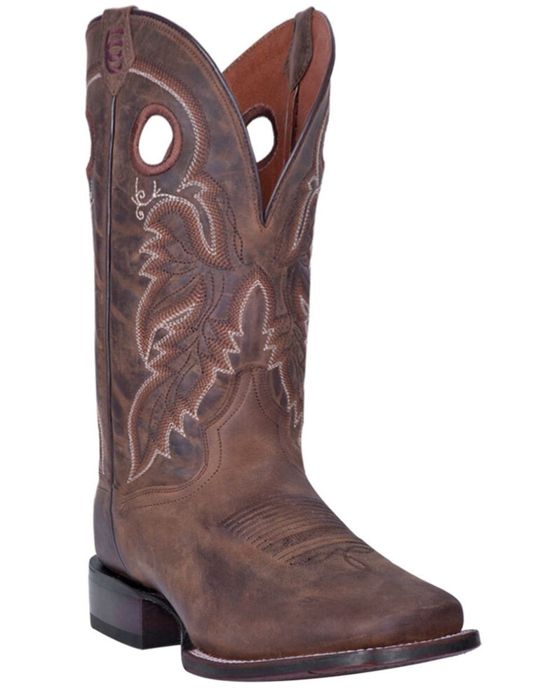 Dan Post Men's Abram Western Boots - Wide Square Toe, Tan, hi-res