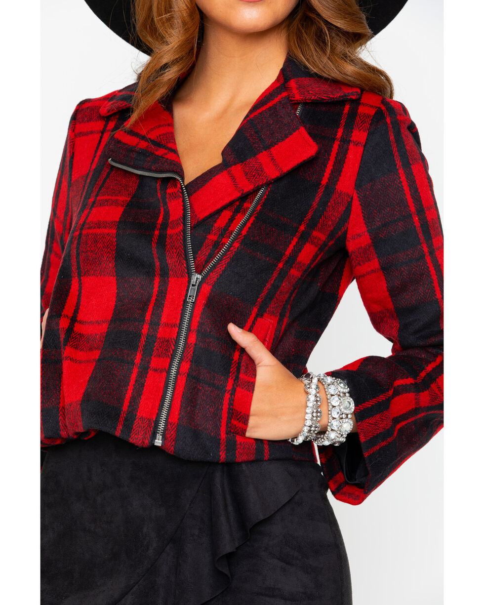 Jack By BB Dakota Out Of The Woods Plaid Jacket, Ruby, hi-res
