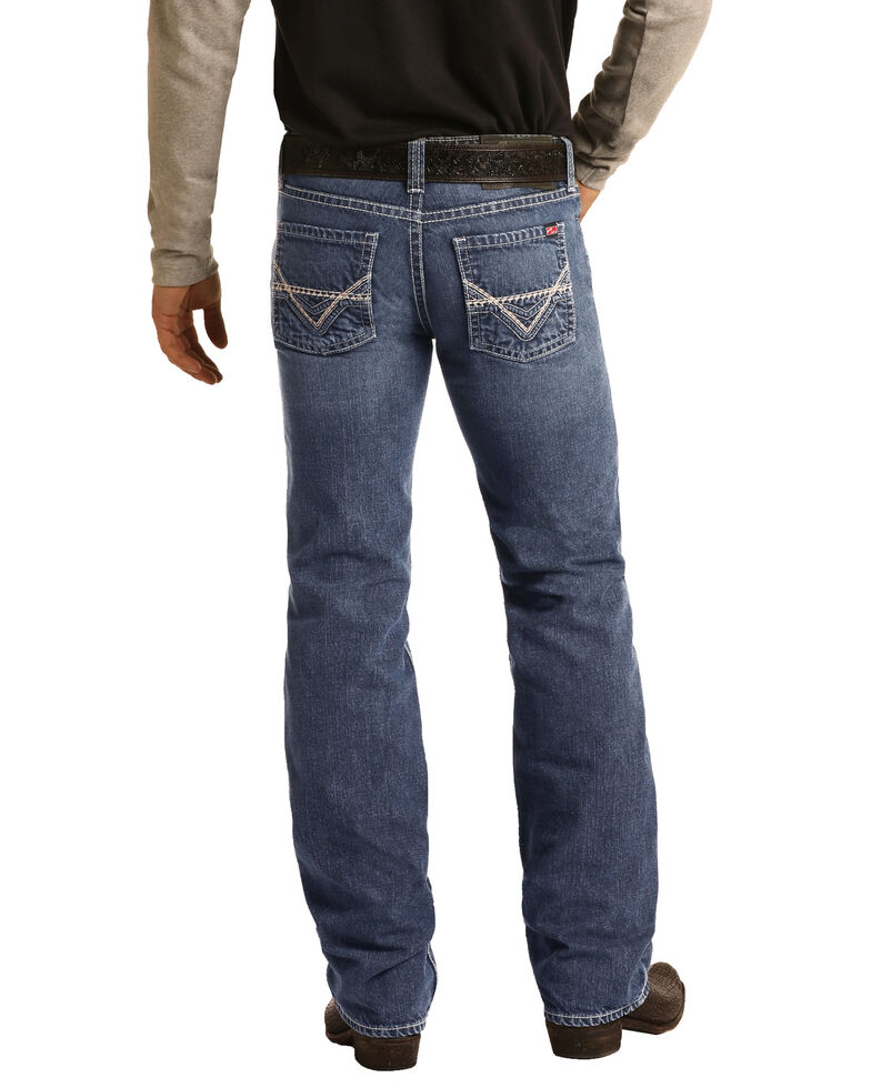 Rock & Roll Denim Men's FR Pistol Light Classic Straight Work Jeans , Blue, hi-res