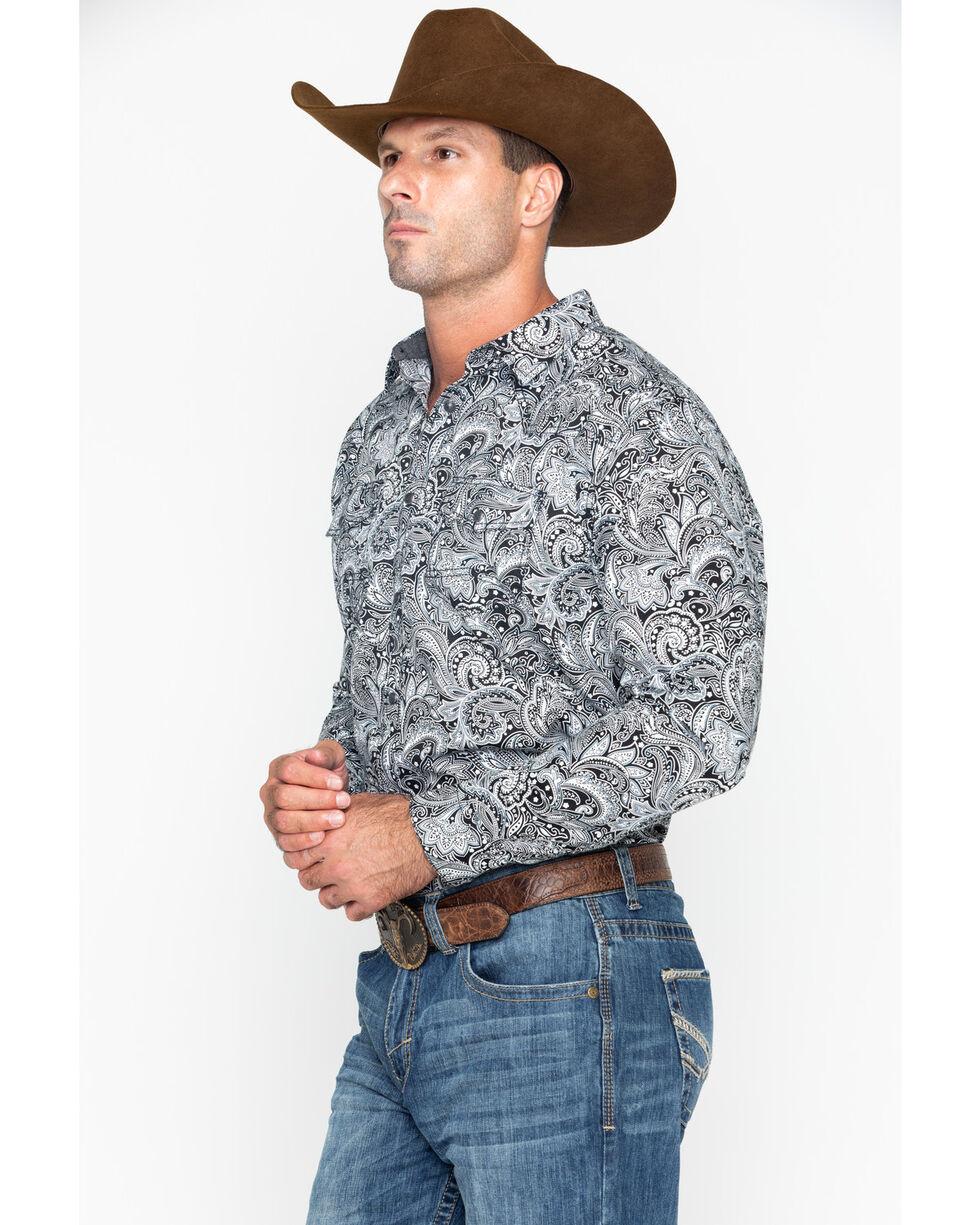 Cody James Men's Cauldron Floral Print Long Sleeve Western Shirt , White, hi-res