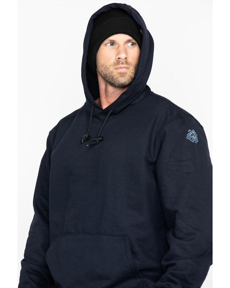 National Safety Apparel Men's Navy Heavyweight Pullover FR Sweatshirt - Big & Tall, Navy, hi-res