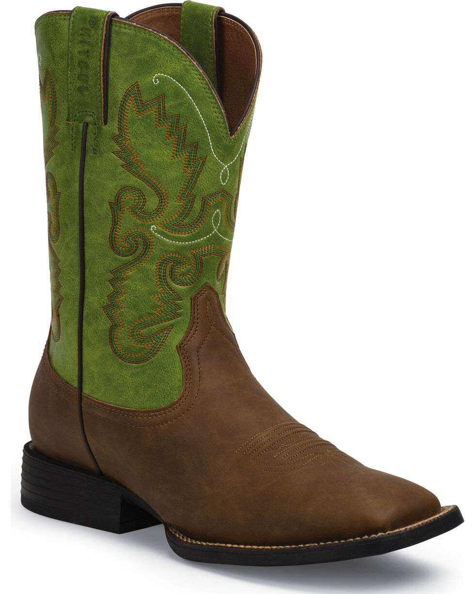 Justin Men's Farm and Ranch Men's Synthetic Cowboy Boots, Bay Apache, hi-res