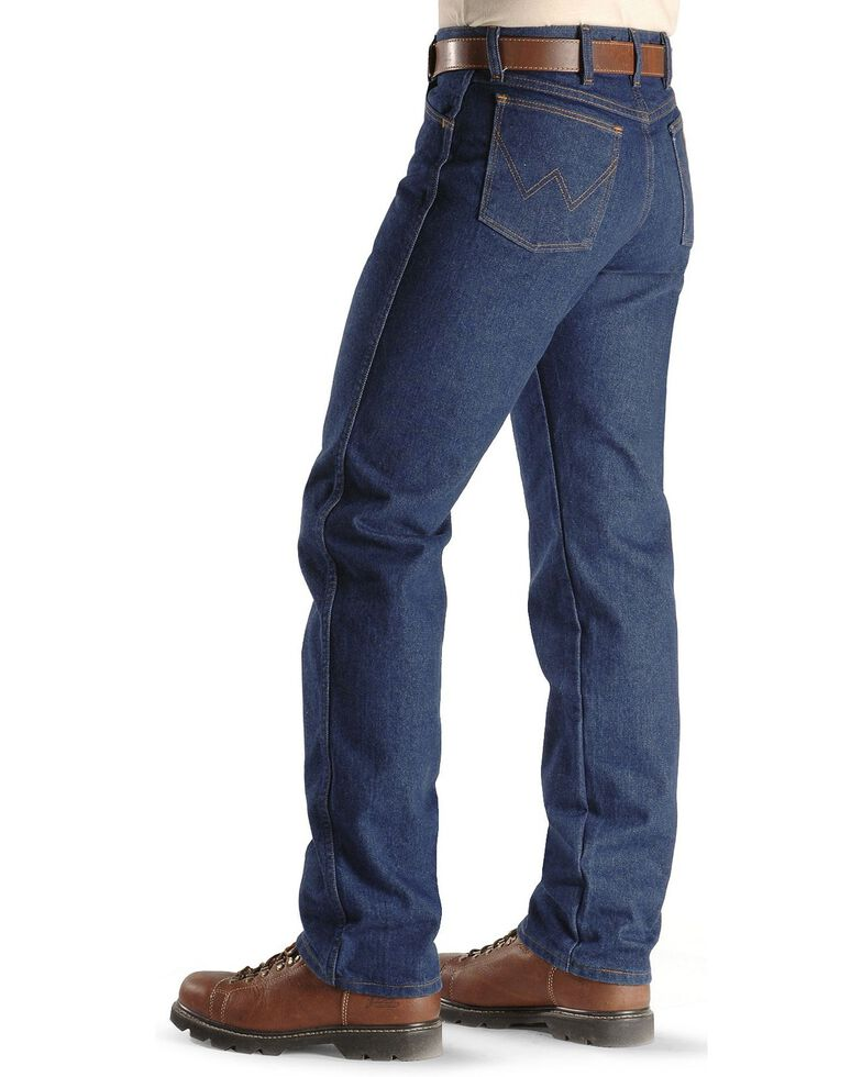Wrangler Men's Flame Resistant Original Fit Jeans, Denim, hi-res