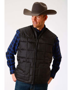 Roper Men's Rangegear Insulated Vest, Black, hi-res