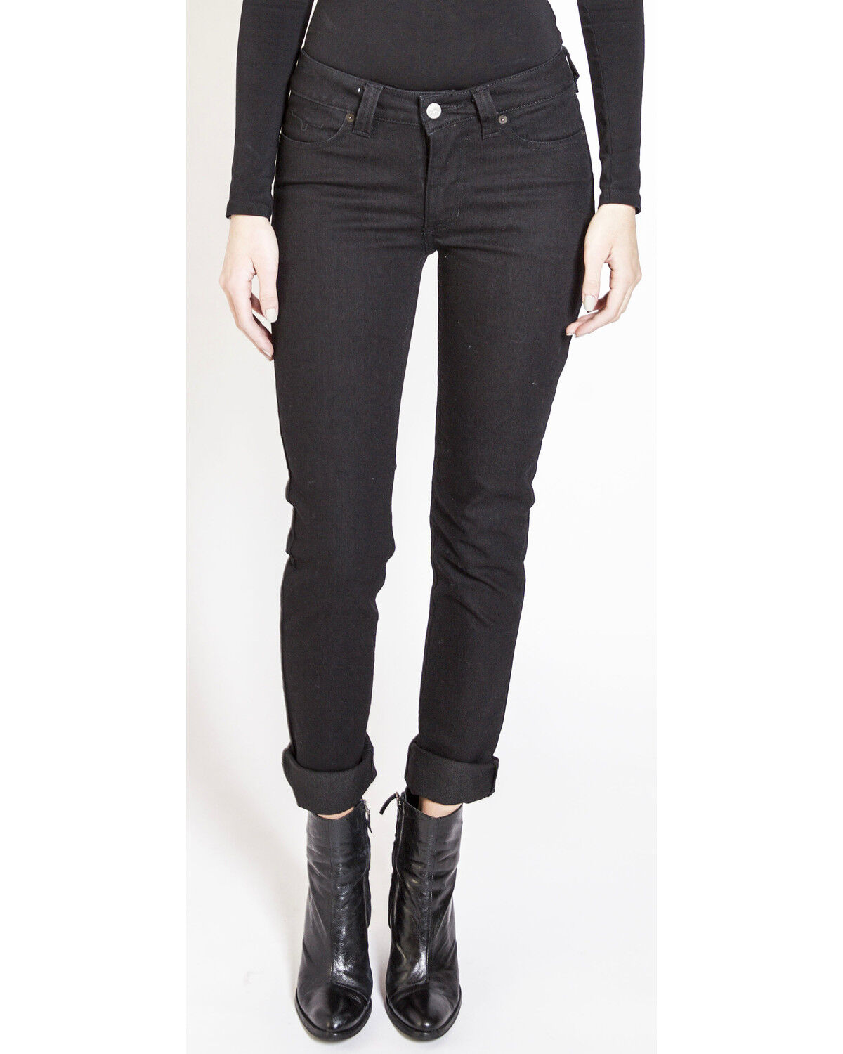 Kimes Ranch Women/'s Mid-Rise Betty Black Boot Cut Jeans