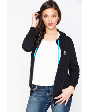 Hooey Women's Dream Catcher Zip Up Hoodie , Black, hi-res
