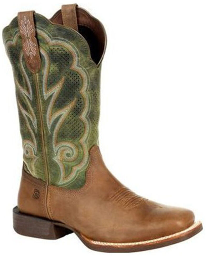 Durango Women's Lady Rebel Pro Western Boots - Wide Square Toe, Brown, hi-res