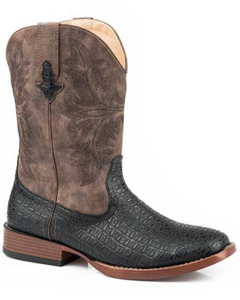 Roper Men's Roderick Western Boots - Square Toe, Black, hi-res