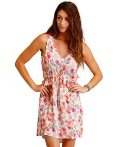 Stetson Women's Pink Watercolor Floral Print Dress , Pink, hi-res
