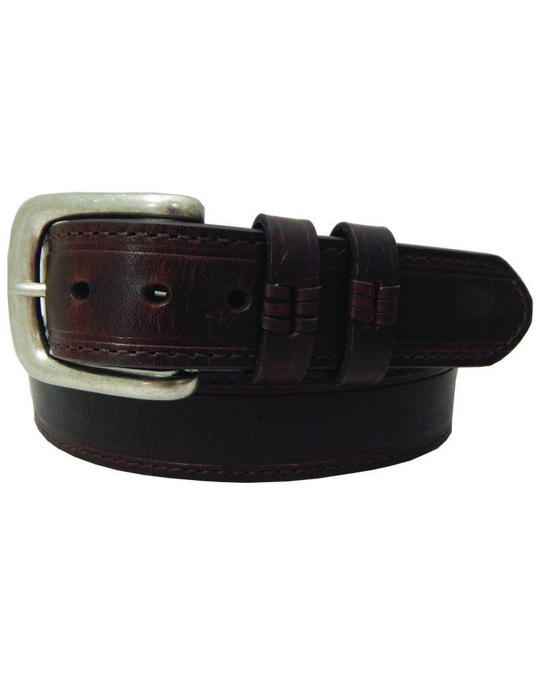 Danbury Men's Brown Oil Tan Double Keeper Belt - Big & Tall , Tan, hi-res