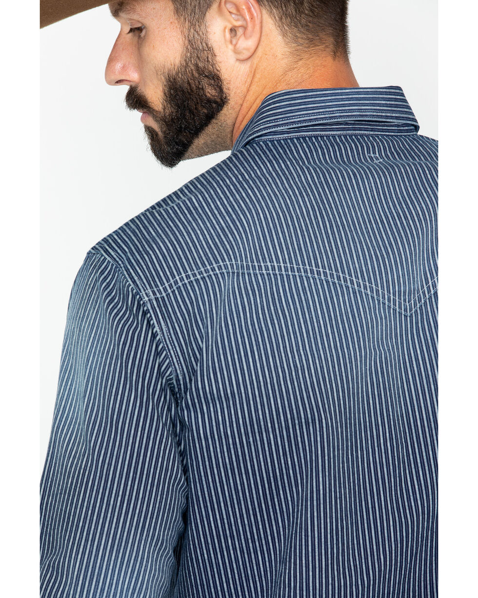 Wrangler Retro Men's Rail Stripe Long Sleeve Western Shirt, , hi-res