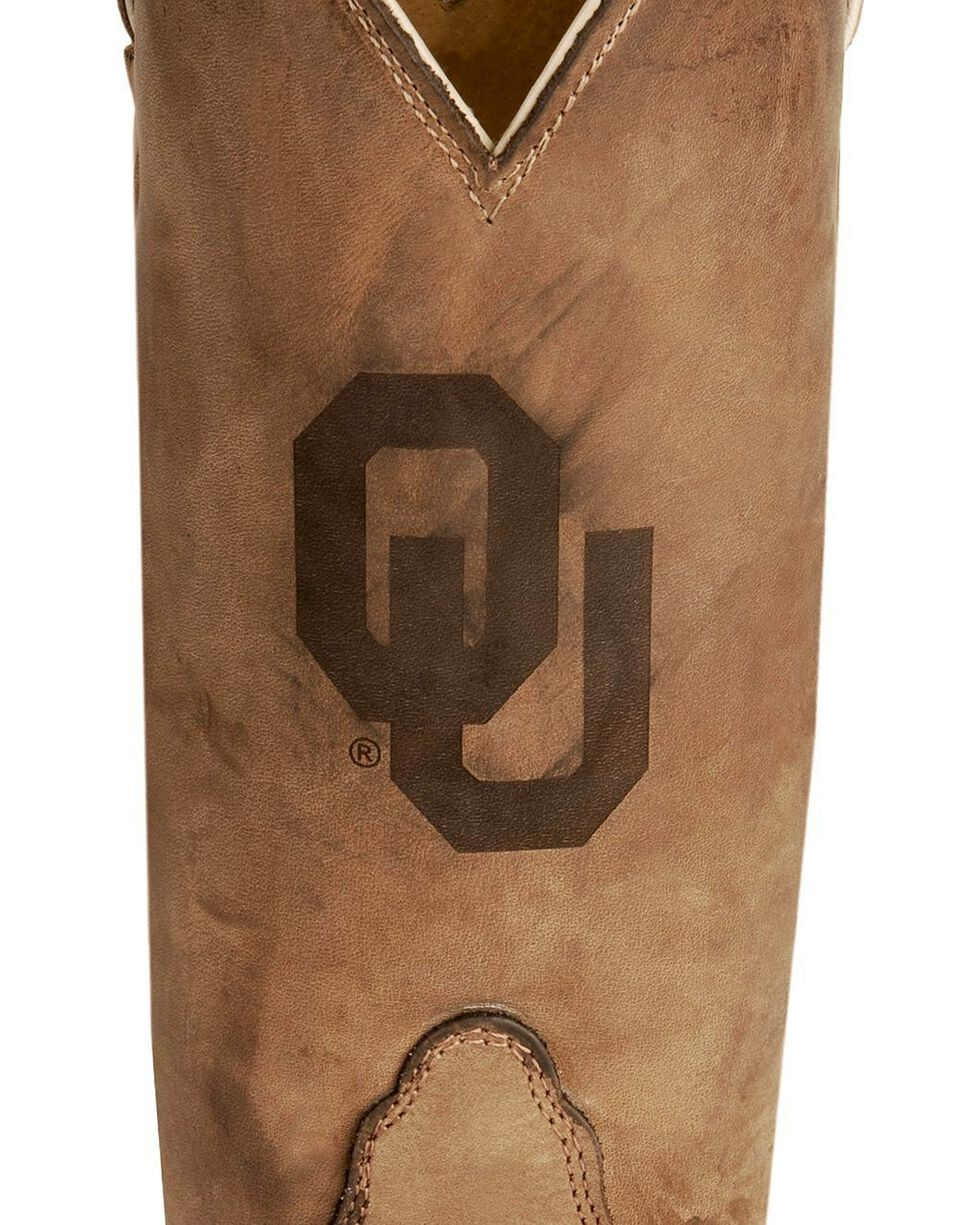 Nocona Women's University of Oklahoma College Boots, Tan, hi-res