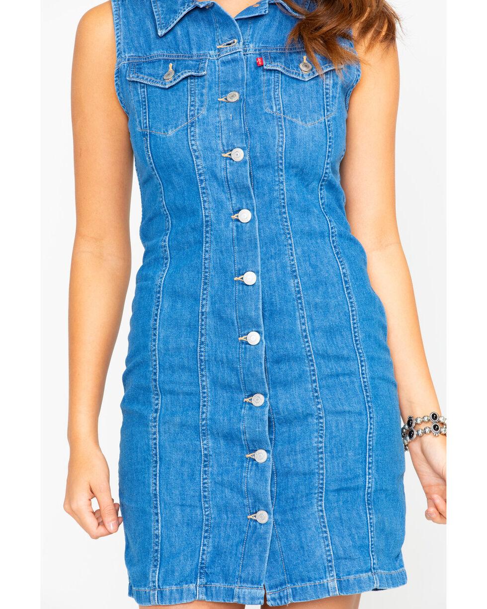 Levi's Women's Aubrey Authentic Stonewash Sleeveless Denim Dress , Blue, hi-res