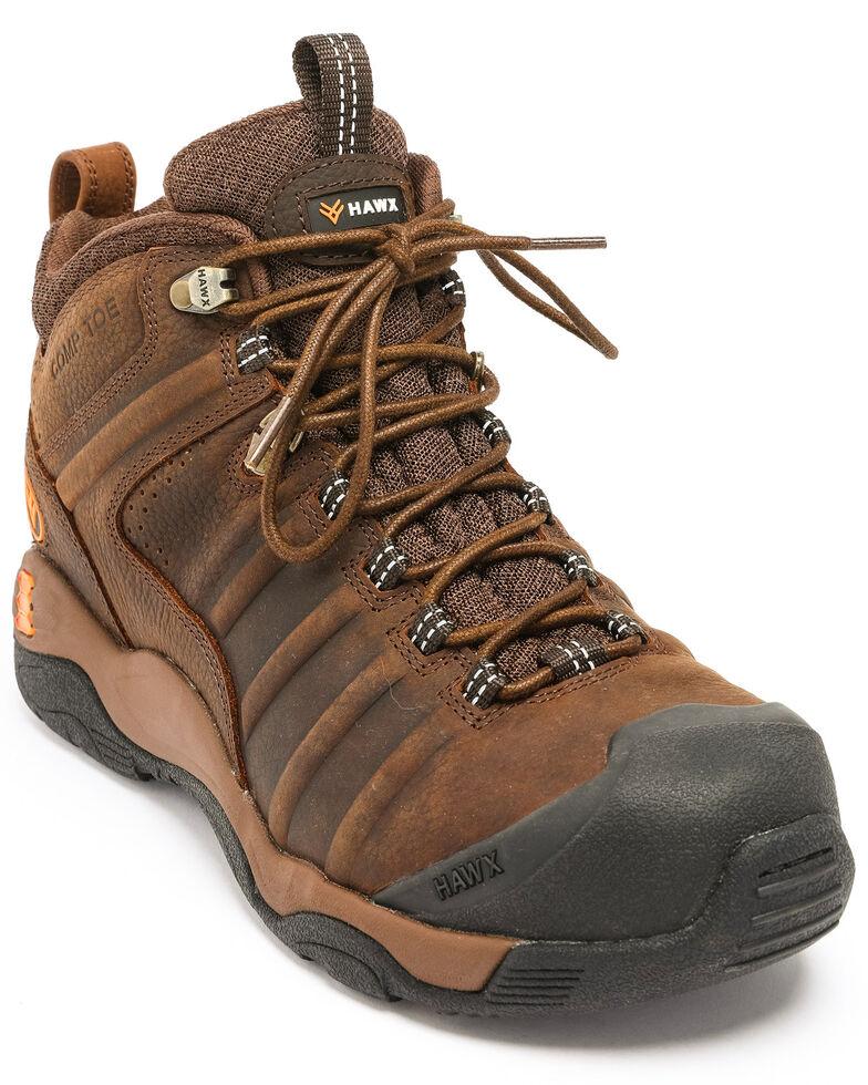 Hawx Men's Axis Hiker Boots - Nano Composite Toe, Brown, hi-res