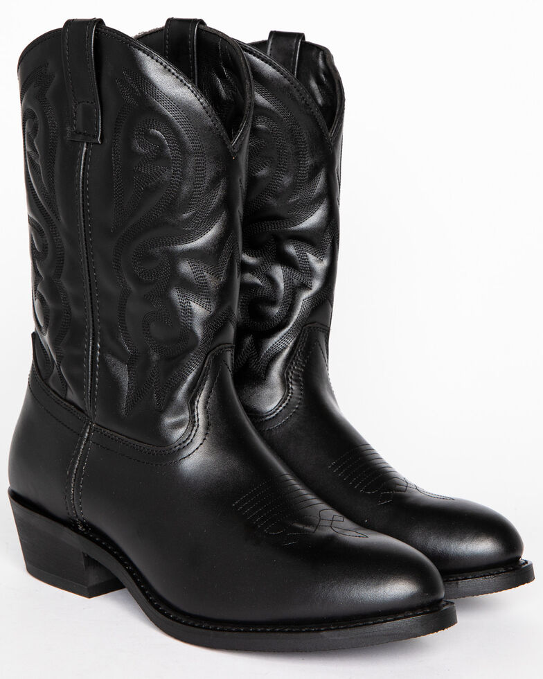 Cody James® Men's Classic Black Embroidered Western Boots, Black, hi-res
