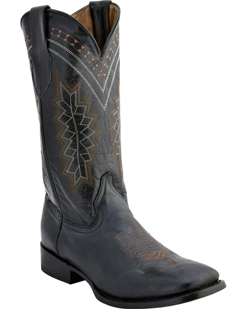 Ferrini Men's Apache Western Boots - Square Toe , Black, hi-res