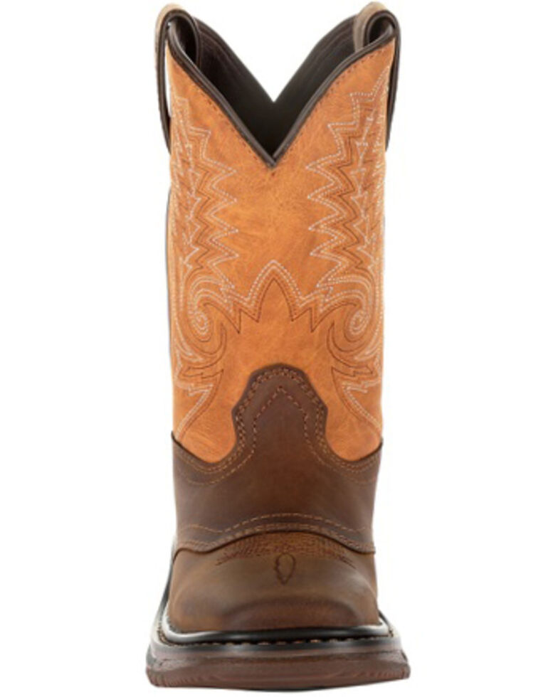 Rocky Boys' Big Kids Ride FLX Western Boots - Square Toe, Brown, hi-res