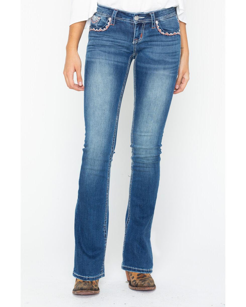 Grace In LA Women's Junior Boot Cut Jeans, Indigo, hi-res