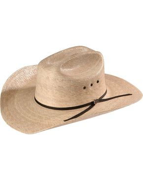Justin 20X Brush Hog Palm Straw Western Hat, Natural, hi-res