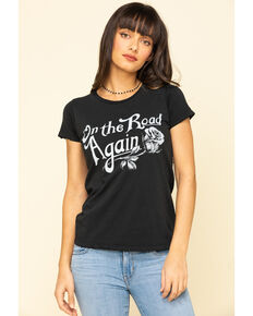 Bandit Women's Black On The Road Again Graphic Tee, Black, hi-res