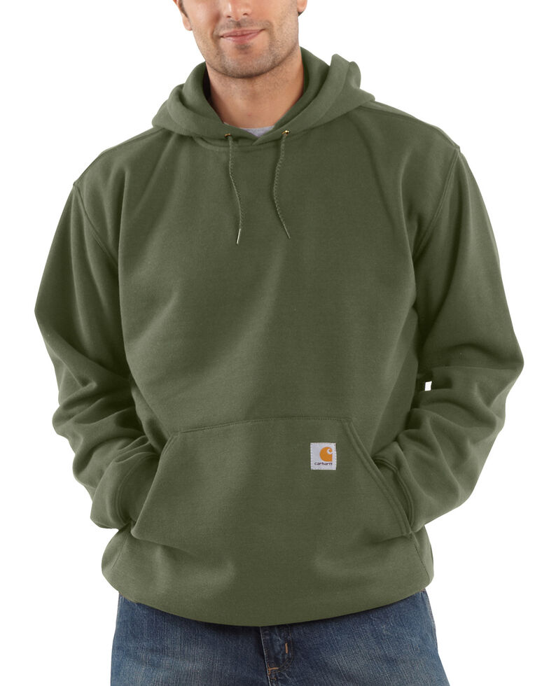Carhartt Midweight Hooded Pullover Sweatshirt, Moss Green, hi-res