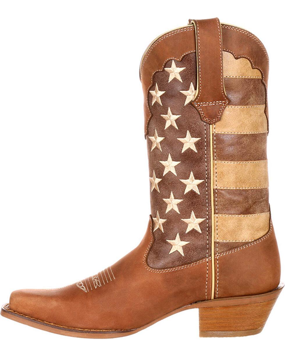 Durango Women's Distressed Flag Western Boots, Brown, hi-res