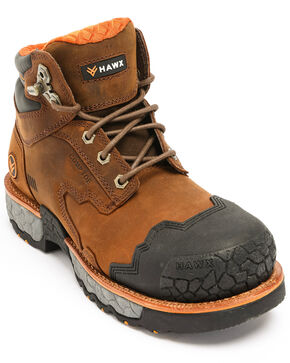 Hawx Men's Legion Work Boots - Composite Toe, Brown, hi-res