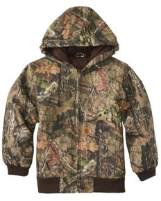 Carhartt Boys' Camo Quilt Lined Active Zip Hooded Jacket , Camouflage, hi-res