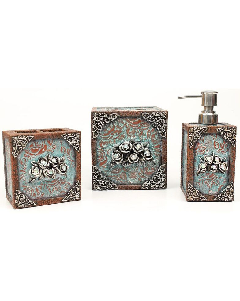 Antique Rose 3-Piece Bathroom Set, Multi, hi-res