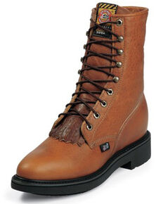 Justin Men's Conductor Copper Work Boots - Soft Toe, Brown, hi-res