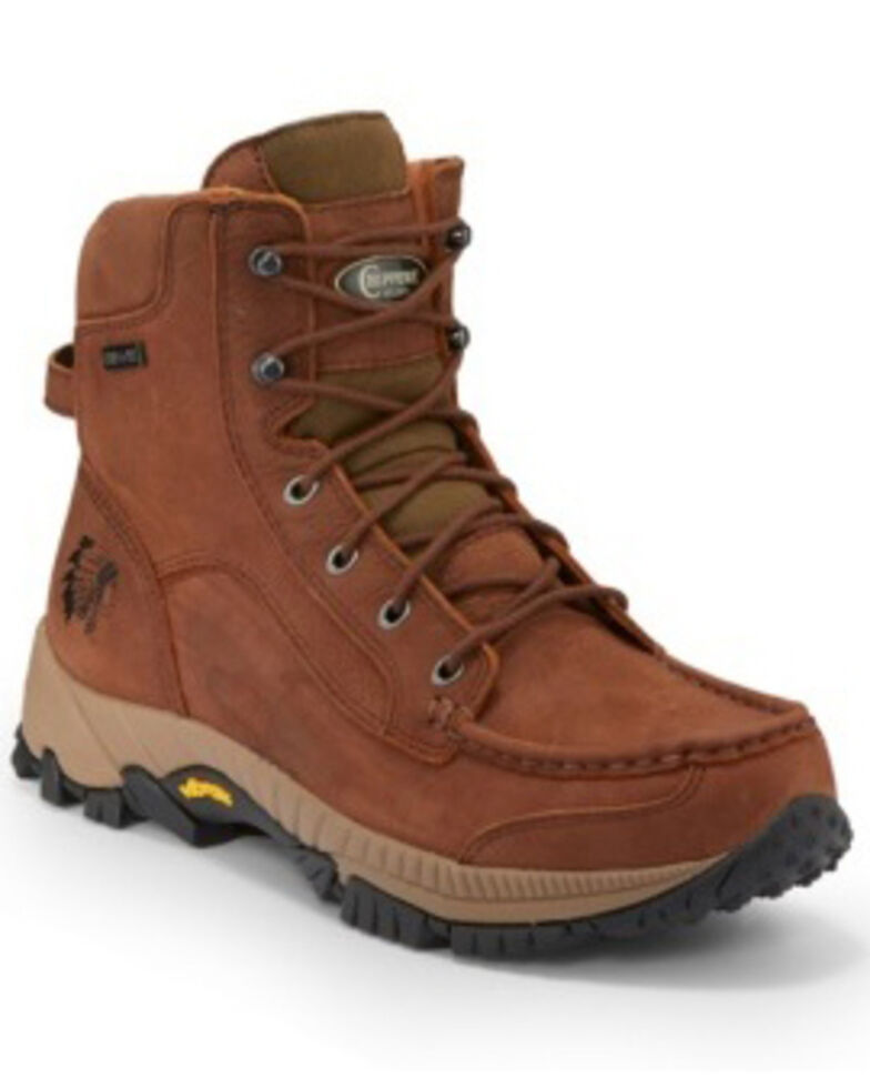 Chippewa Men's Searcher II Waterproof Work Boots - Soft Toe, Brown, hi-res