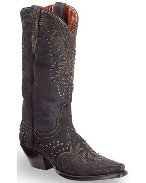 "Dan Post Women's 13"" Invy Western Boots, Black, hi-res"