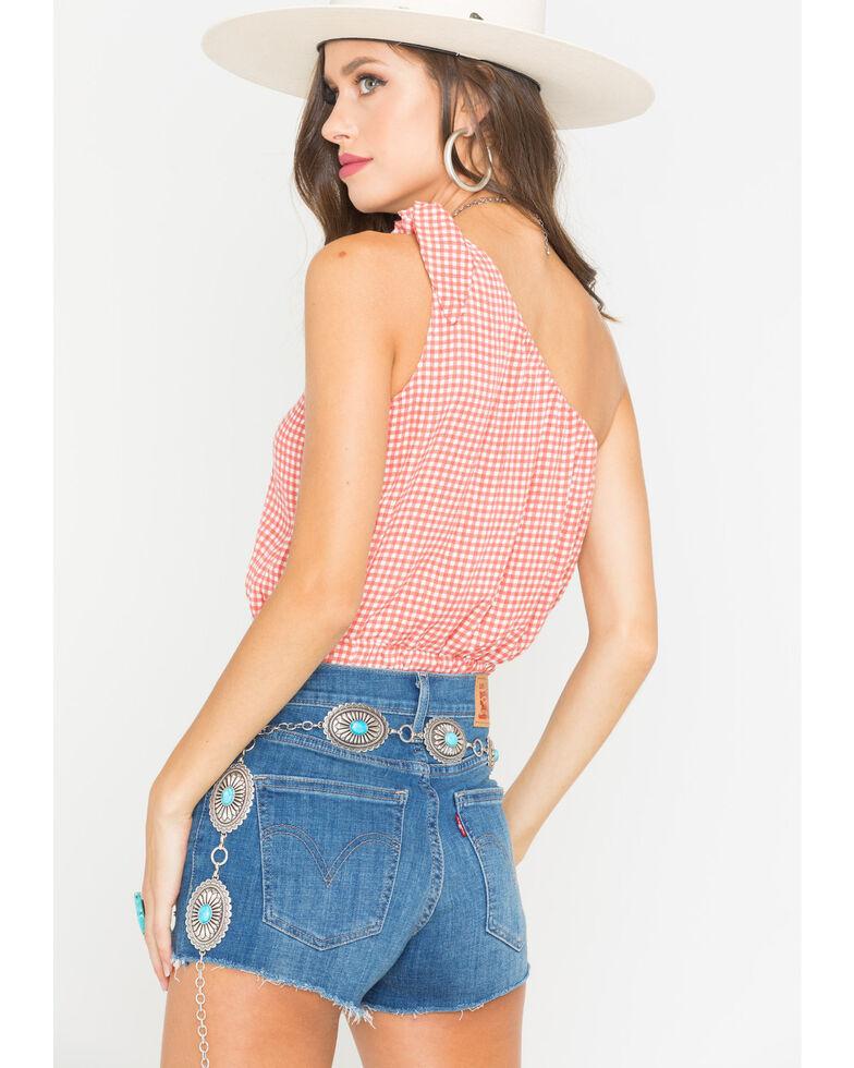 Sage the Label Women's Peach Positano One-Shoulder Tank , Peach, hi-res