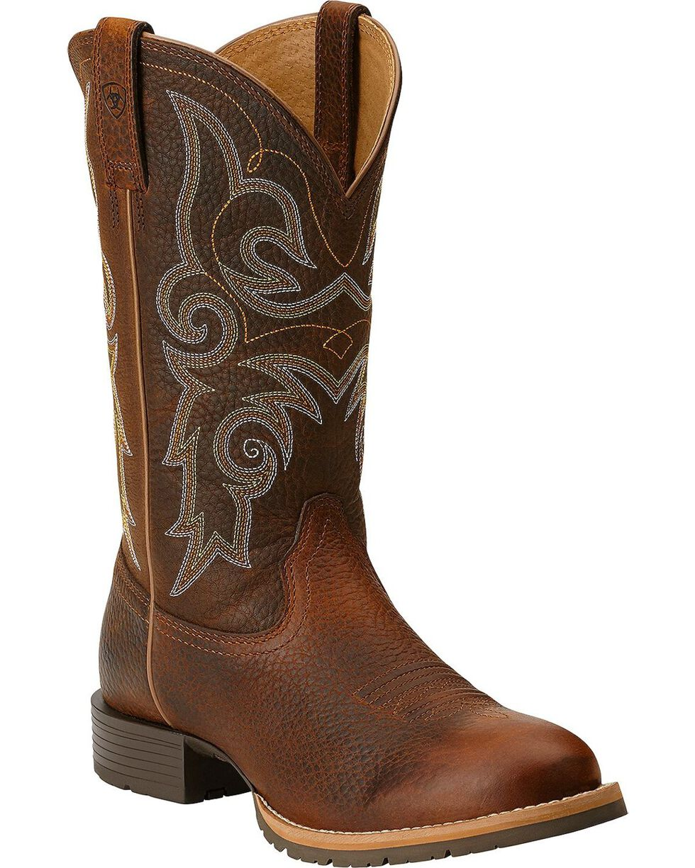 Ariat Women's Hybrid Rancher Round Toe Western Boots, Brown, hi-res