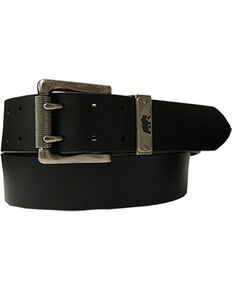 Berne Mens' Buffalo Leather Belt , Black, hi-res