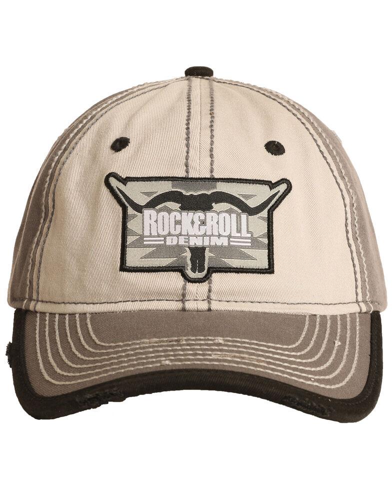 Rock & Roll Cowboy Men's Steer Head Logo Ball Cap , Brown, hi-res