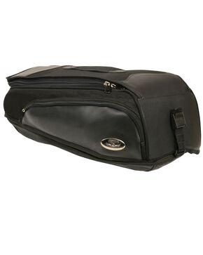 Milwaukee Leather Black Long Textile Back Rack Travel Bag , Black, hi-res