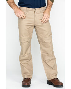 Hawx® Men's Stretch Canvas Utility Work Pants - Big , Beige/khaki, hi-res