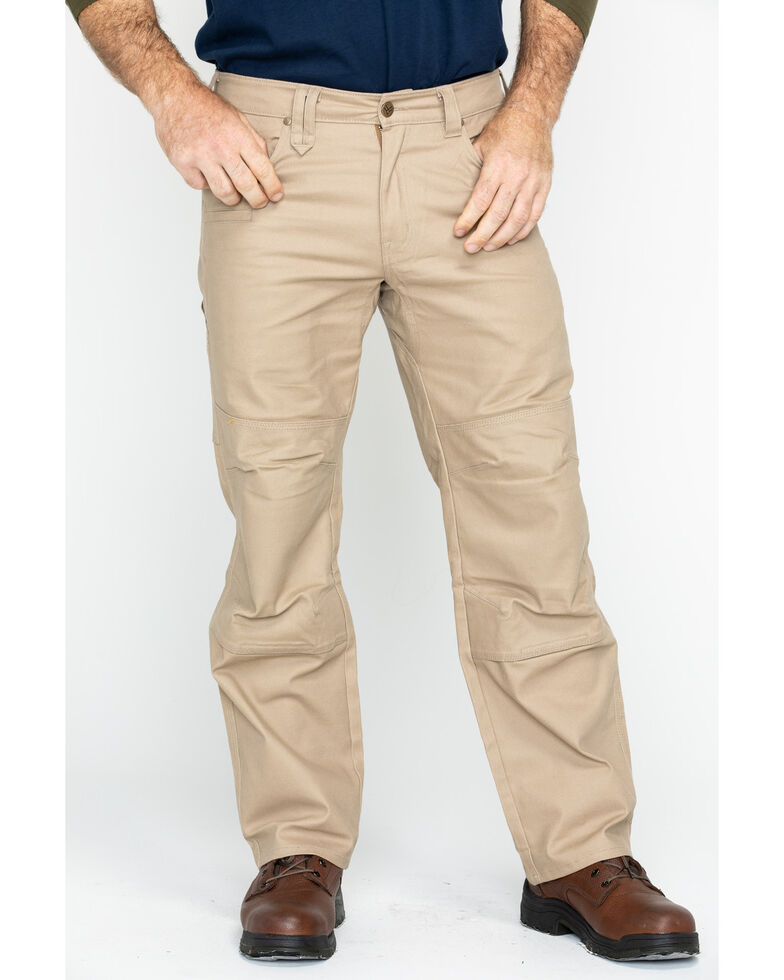 Hawx Men's Stretch Canvas Utility Work Pants - Big , Beige/khaki, hi-res