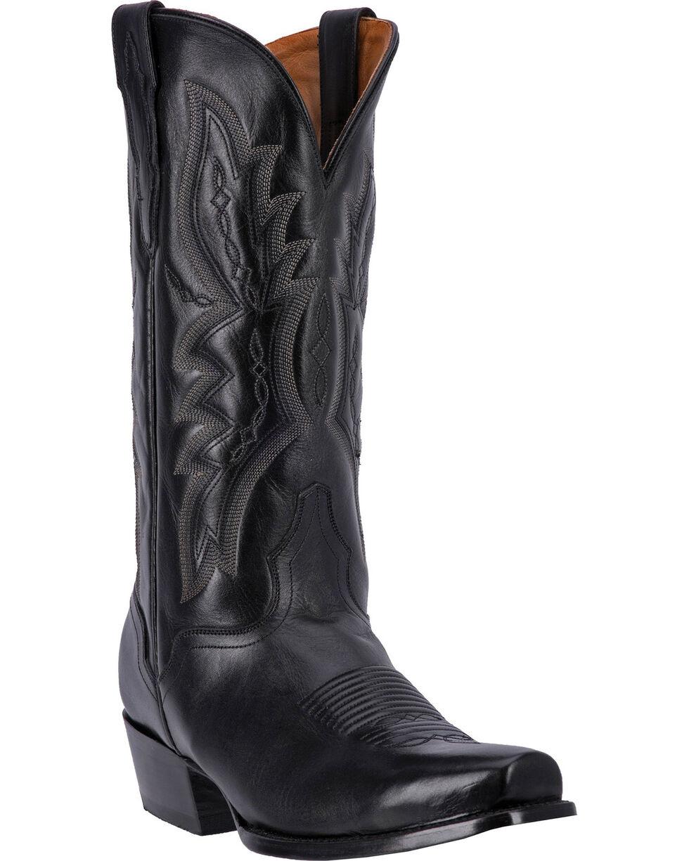 El Dorado Men's Square Toe Vanquished Calf Western Boots, Black, hi-res