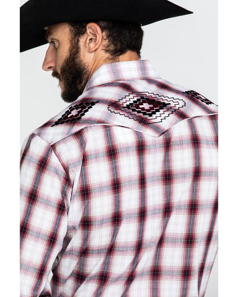 Roper Men's Multi Plaid Aztec Embroidered Yoke Long Sleeve Western Shirt , White, hi-res
