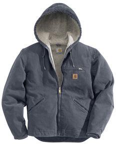 Carhartt Men's Sandstone Sierra Sherpa Lined Jacket, Grey, hi-res