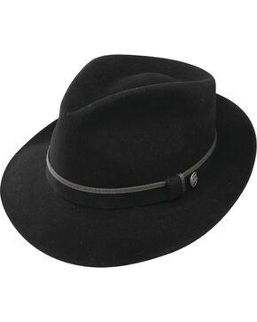 Stetson Men's Belfast Fur Felt Fedora, Black, hi-res