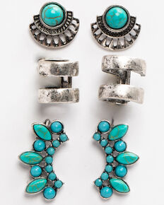 713635215 Idyllwind Women's Tomboy Turquoise Earrings Set