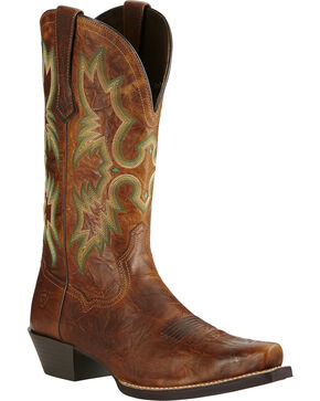 Ariat Men's Dress Tombstone Western Boots, Brown, hi-res
