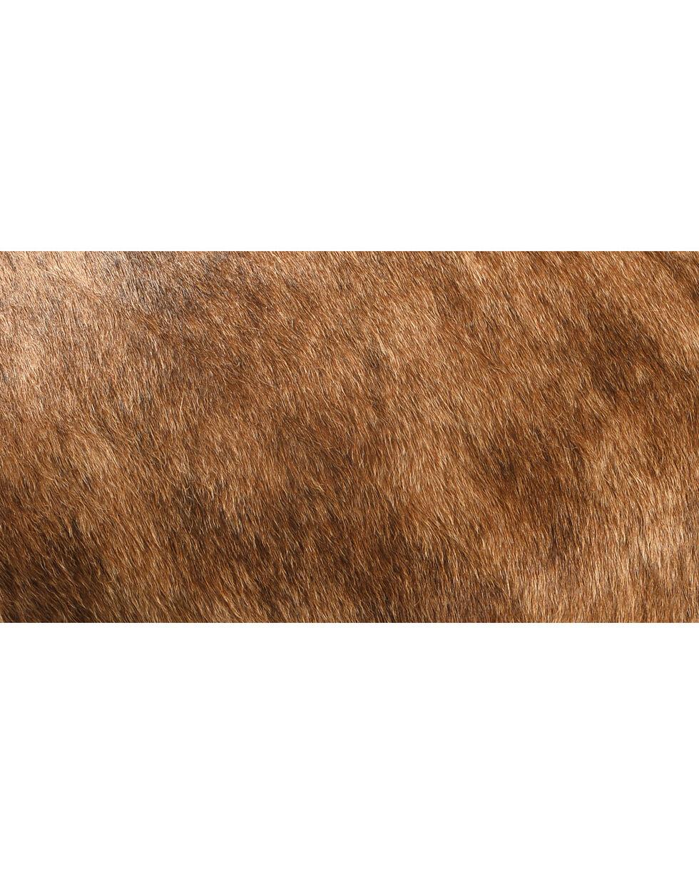 Shawnee Trading Post Longhorn Hair On Foot Stool, Multi, hi-res
