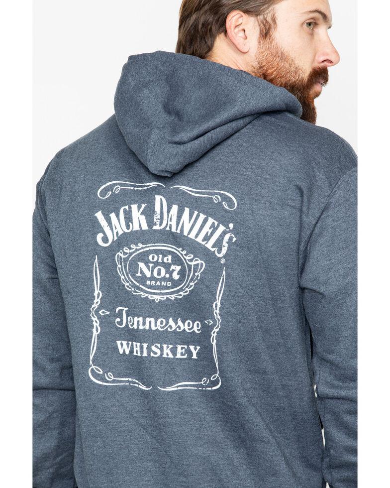 Jack Daniel's Men's Label Pullover Hoodie , Dark Grey, hi-res