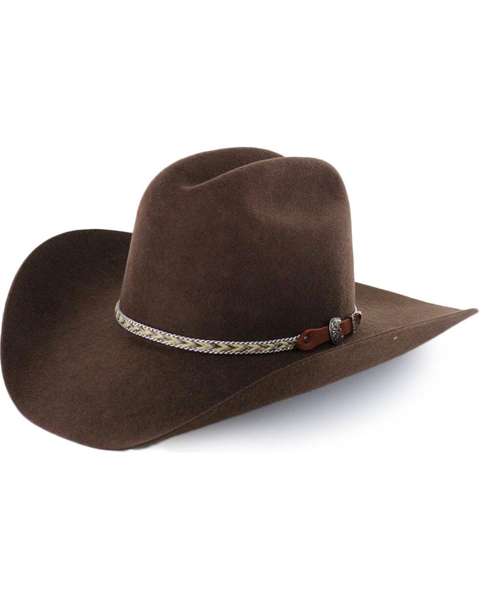 Cody James® Men's Ramrod 3X Low Cattleman Pro Rodeo Felt Hat, Chocolate, hi-res
