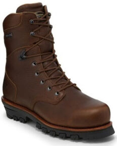 Chippewa Men's Honcho Waterproof Work Boots - Composite Toe, Brown, hi-res